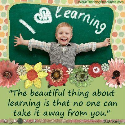 LEARNING CANNOT BE TAKEN AWAY
